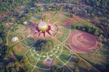 Auroville Aerial View Pondicherry